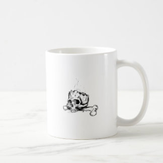 CRÁNEO Y FÉMUR TAZA DE CAFÉ