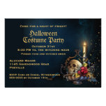 Cráneo y fiesta de Halloween de las hojas de la ca Comunicados