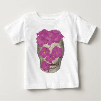 Cráneo y flores playera