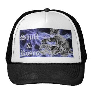 Cráneo y gorra de béisbol púrpura del aligeramient
