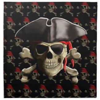 Cráneo y gorra del pirata servilletas de papel