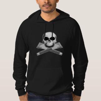 Cráneo y grapadoras suéter con capucha