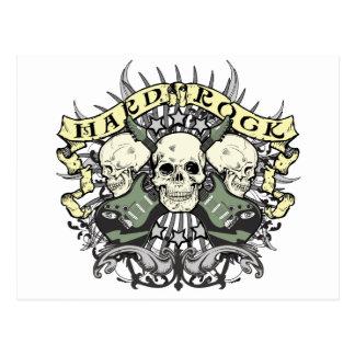 Cráneo y guitarras del heavy tarjetas postales