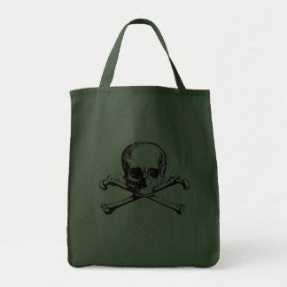 Cráneo y huesos 322 bolsa tela para la compra
