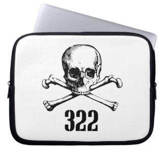 Cráneo y huesos 322 fundas computadoras