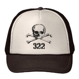 Cráneo y huesos 322 gorras de camionero
