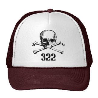 Cráneo y huesos 322 gorro de camionero