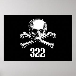 Cráneo y huesos 322 posters