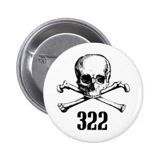 Cráneo y huesos 322 pin redondo 5 cm