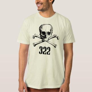 Cráneo y huesos 322 playera