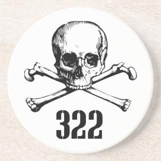 Cráneo y huesos 322 posavasos para bebidas