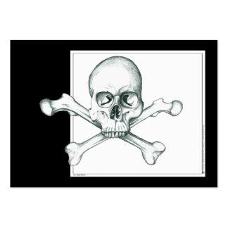 Cráneo y huesos cruzados del muslo tarjetas de visita grandes
