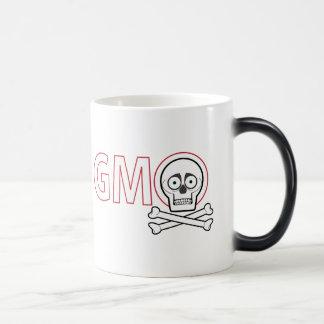 Cráneo y huesos de GMO Taza Mágica