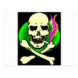 Cráneo y huesos del estilo de la tienda principal tarjetas postales