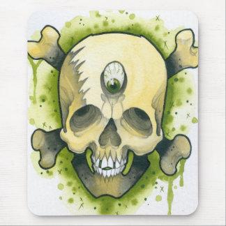 Cráneo y huesos del mutante tapetes de ratón