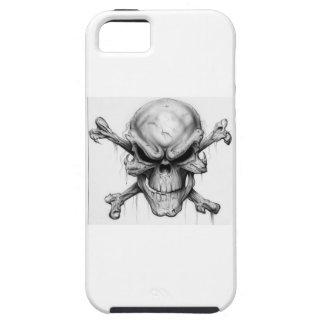 Cráneo y huesos iPhone 5 protectores