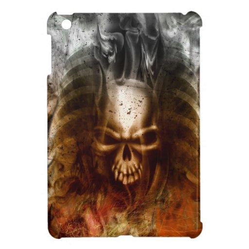 Cráneo y huesos góticos frescos iPad mini funda
