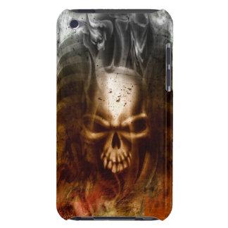 Cráneo y huesos góticos frescos iPod touch carcasa