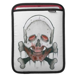 cráneo y huesos mangas de iPad