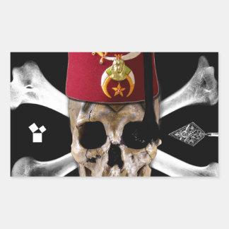Cráneo y huesos masónicos de Shriner con Fes Rectangular Altavoces