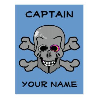 Cráneo y huesos personalizados de la cruz tarjetas postales