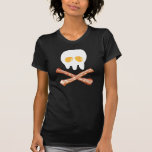 Cráneo y huesos sabrosos camisetas