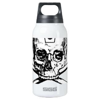 Cráneo y huesos - sociedad secreta botella isotérmica de agua
