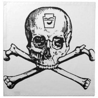 Cráneo y huesos - sociedad secreta servilleta