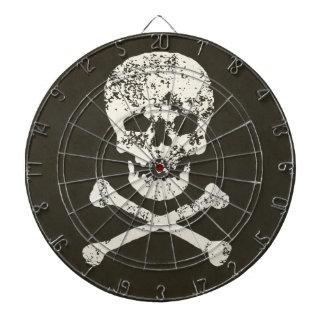 Cráneo y huesos - sucios
