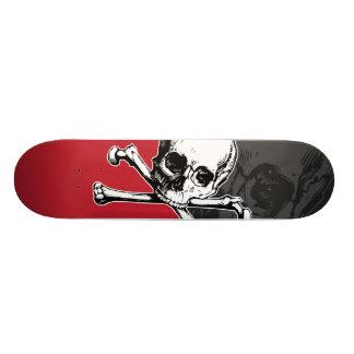 Cráneo y huesos tablas de patinar