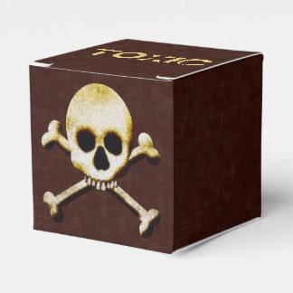 Cráneo y huesos venenosos Halloween del veneno Cajas Para Detalles De Boda