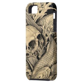 Cráneo y Koi iPhone 5 Carcasas