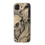 Cráneo y Koi iPhone 4/4S Fundas