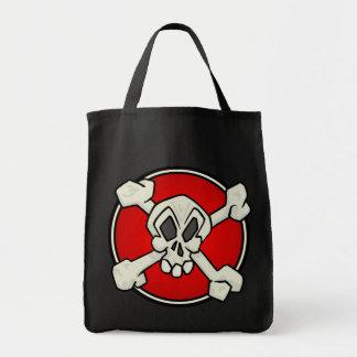 Cráneo y la bolsa de asas de la bandera pirata