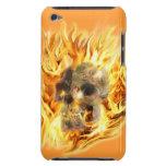 Cráneo y llamas ardientes Case-Mate iPod touch cobertura