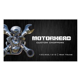Cráneo y llave elegantes de la trabajo de metalist tarjetas personales
