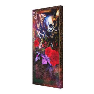 Cráneo y llave lona envuelta para galerias