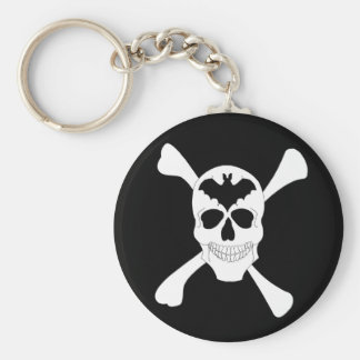 Cráneo y llavero de la bandera pirata