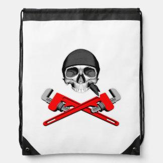 Cráneo y llaves v2 del fontanero mochilas