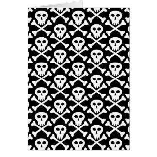 Cráneo y modelo de la bandera pirata tarjeta pequeña