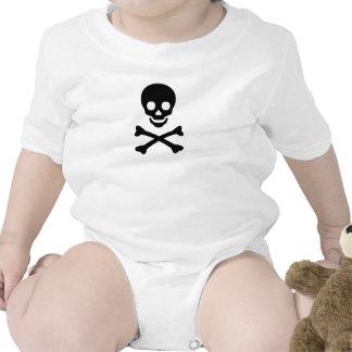 Cráneo y mono de la bandera pirata trajes de bebé