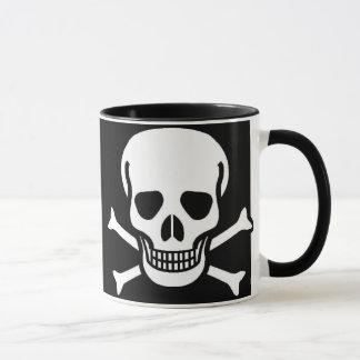 Cráneo y negro de la bandera pirata