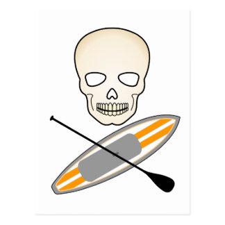 Cráneo y Paddleboard Tarjetas Postales