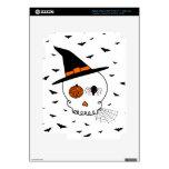 Cráneo y palos del arte de Halloween Pegatina Skin Para iPad 3