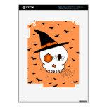 Cráneo y palos (fondo anaranjado) de Halloween iPad 3 Skin