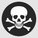 Cráneo y pegatina de la bandera pirata