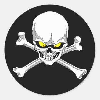Cráneo y pegatinas de la bandera pirata