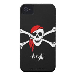 Cráneo y pirata de los huesos de la cruz Case-Mate iPhone 4 funda