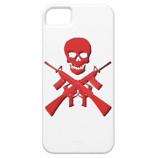 Cráneo y rifles iPhone 5 cobertura
