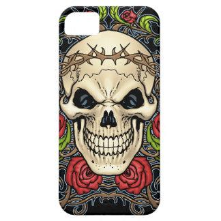 Cráneo y rosas con la corona de espinas por el Al iPhone 5 Fundas